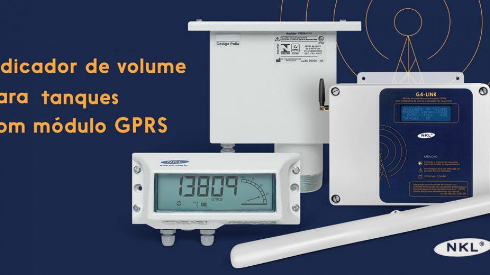 Indicador de Volume para tanques com módulo GPRS