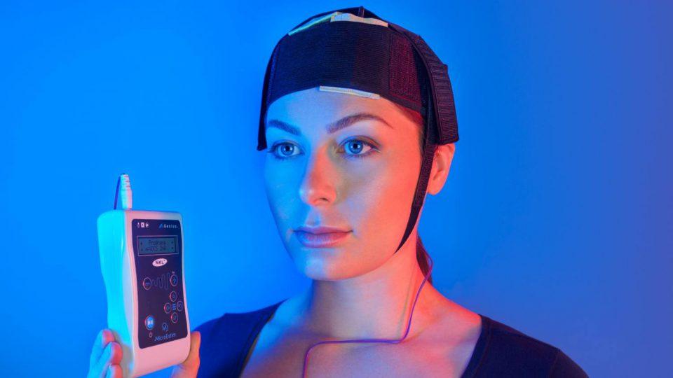 Utilização das faixas e eletrodos com esponjas para Microestim